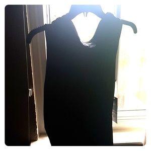 Black stretch dress.